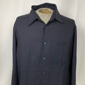Hugo Boss Silk Long Sleeved Button Down Shirt, XL
